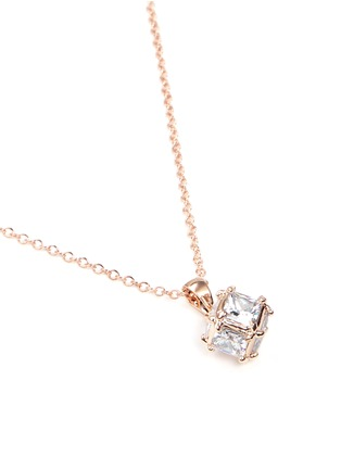 Detail View - Click To Enlarge - CZ by Kenneth Jay Lane - Cubic zirconia cube necklace