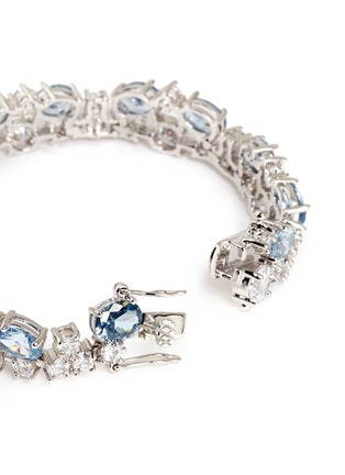 Detail View - Click To Enlarge - CZ by Kenneth Jay Lane - Stacked mix cubic zirconia bracelet