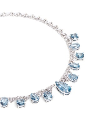Detail View - Click To Enlarge - CZ by Kenneth Jay Lane - Cubic zirconia pavé fringe necklace