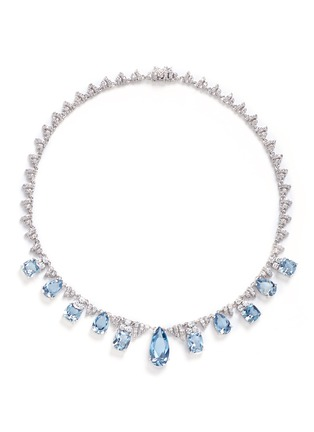 Main View - Click To Enlarge - CZ by Kenneth Jay Lane - Cubic zirconia pavé fringe necklace