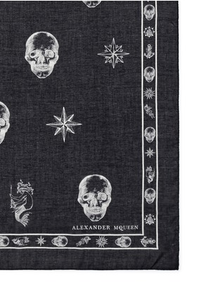 Detail View - Click To Enlarge - Alexander McQueen - Skull tattoo print cotton-modal scarf