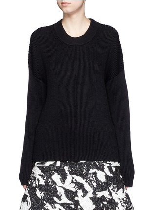 Detail View - Click To Enlarge - Neil Barrett - Detachable belt sweater