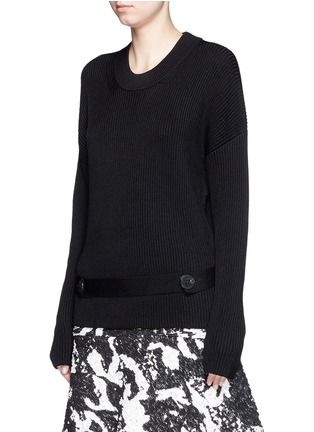 Front View - Click To Enlarge - Neil Barrett - Detachable belt sweater