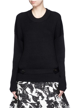Main View - Click To Enlarge - Neil Barrett - Detachable belt sweater