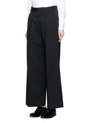 Front View - Click To Enlarge - Neil Barrett - Virgin wool blend twill slouch fit pants