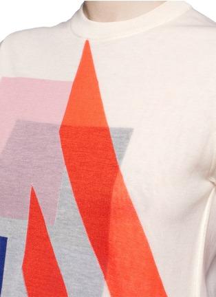 Detail View - Click To Enlarge - ACNE STUDIOS - 'Basil' geometric intarsia knit T-shirt