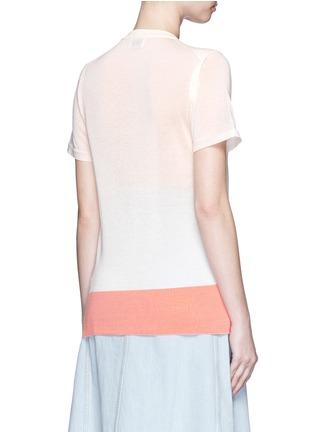 Back View - Click To Enlarge - ACNE STUDIOS - 'Basil' geometric intarsia knit T-shirt