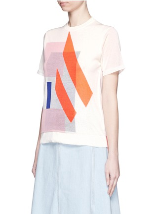 Front View - Click To Enlarge - ACNE STUDIOS - 'Basil' geometric intarsia knit T-shirt