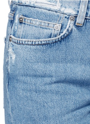 Detail View - Click To Enlarge - Acne Studios - 'Boy Indigo Fray' jeans