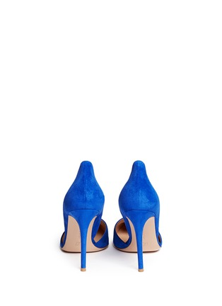 Back View - Click To Enlarge - Gianvito Rossi - 'Lena' suede d'Orsay pumps
