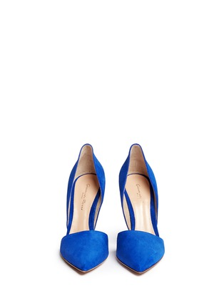 Figure View - Click To Enlarge - Gianvito Rossi - 'Lena' suede d'Orsay pumps