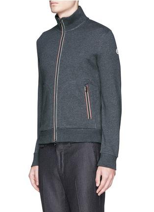 Front View - Click To Enlarge - Moncler - Signature trim cotton jacket