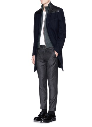 Figure View - Click To Enlarge - Moncler - Signature trim cotton jacket