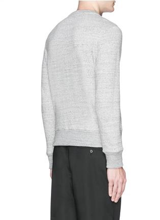 Back View - Click To Enlarge - Moncler - Embossed logo cotton-wool sweatshirt
