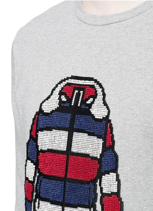 Detail View - Click To Enlarge - Moncler - Down jacket embroidery sweatshirt
