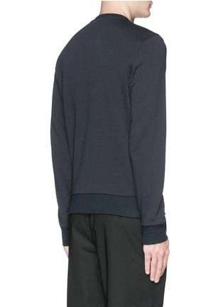 Back View - Click To Enlarge - Moncler - Down jacket embroidery sweatshirt