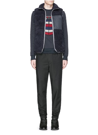 Figure View - Click To Enlarge - Moncler - Down jacket embroidery sweatshirt