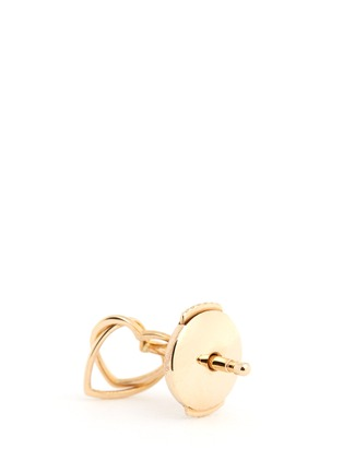 Detail View - Click To Enlarge - Loquet London - 14k yellow gold linked hearts single earring - Always Together