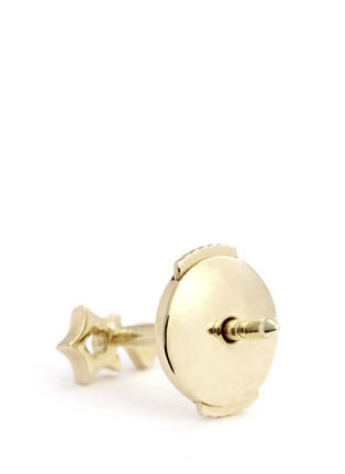 Detail View - Click To Enlarge - Loquet London - 14k yellow gold shooting star single earring - Make a Wish