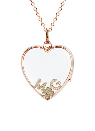 Figure View - Click To Enlarge - Loquet London - Diamond 18k yellow gold letter charm - G