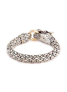 John Hardy 18k gold silver large scaly dragon bracelet