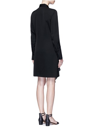 Back View - Click To Enlarge - Theory - 'Talbilla' tie front silk shirt dress