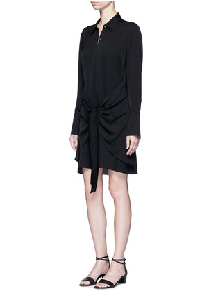 Figure View - Click To Enlarge - Theory - 'Talbilla' tie front silk shirt dress