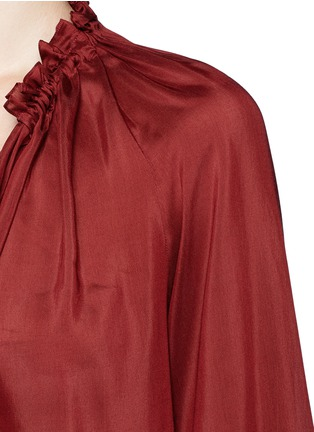 Detail View - Click To Enlarge - THE ROW - 'Spira' modal-silk neck tie top