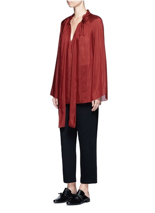 Figure View - Click To Enlarge - THE ROW - 'Spira' modal-silk neck tie top