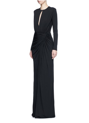 Figure View - Click To Enlarge - Givenchy Beauty - Keyhole drape front jersey crepe gown