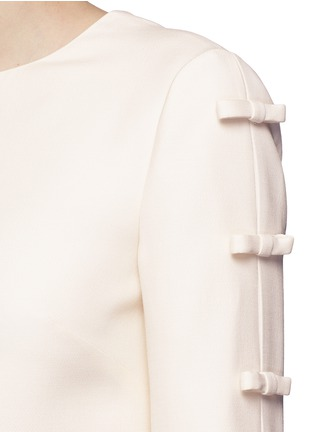 Detail View - Click To Enlarge - Valentino - Split bow sleeve Crepe Couture dress