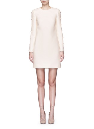 Main View - Click To Enlarge - Valentino - Split bow sleeve Crepe Couture dress