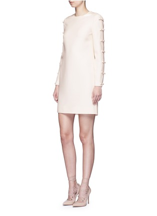 Figure View - Click To Enlarge - Valentino - Split bow sleeve Crepe Couture dress