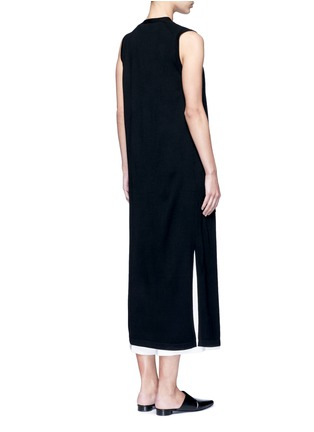 Back View - Click To Enlarge - Theory - 'Torina SL' long wool cardigan
