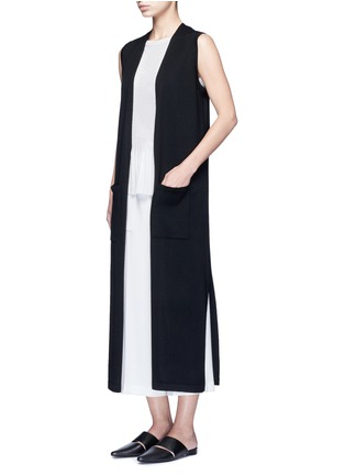 Figure View - Click To Enlarge - Theory - 'Torina SL' long wool cardigan