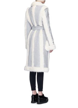 Back View - Click To Enlarge - Stella McCartney - Faux fur wool blend felt overcoat