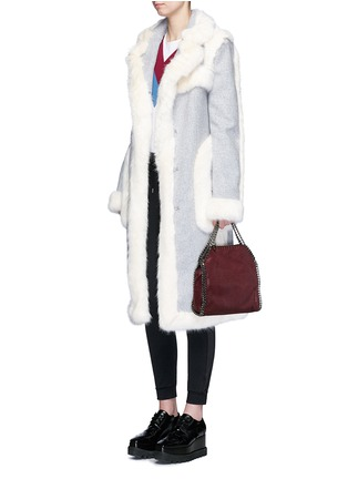 Figure View - Click To Enlarge - Stella McCartney - Faux fur wool blend felt overcoat