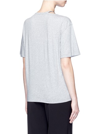 Back View - Click To Enlarge - Stella McCartney - 'Falabella' chain cutout neck T-shirt