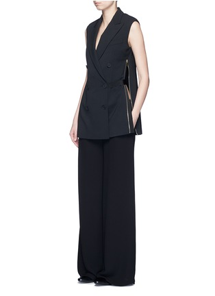 Figure View - Click To Enlarge - Stella McCartney - Side zip wool crepe waistcoat