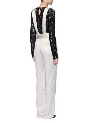 Back View - Click To Enlarge - Lanvin - Techno twill suspender pants