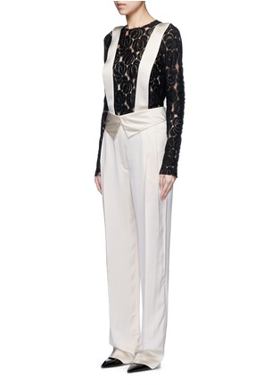 Front View - Click To Enlarge - LANVIN - Techno twill suspender pants