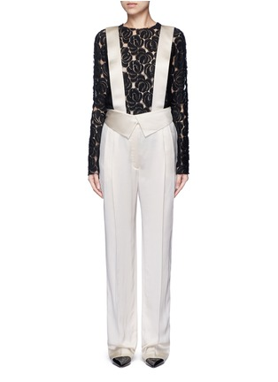 Main View - Click To Enlarge - Lanvin - Techno twill suspender pants