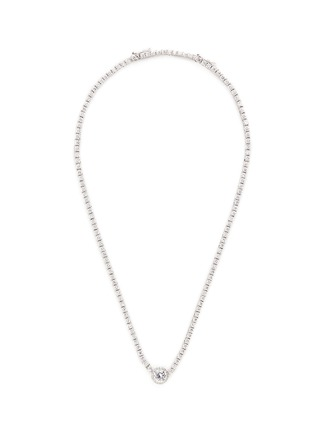 Main View - Click To Enlarge - CZ by Kenneth Jay Lane - Round cut cubic zirconia pendant choker necklace