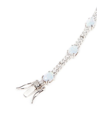 Detail View - Click To Enlarge - CZ by Kenneth Jay Lane - Opalesecnt cubic zirconia oval cabochon bracelet