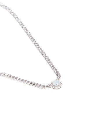 Detail View - Click To Enlarge - CZ by Kenneth Jay Lane - Round cut milky cubic zirconia pendant choker necklace