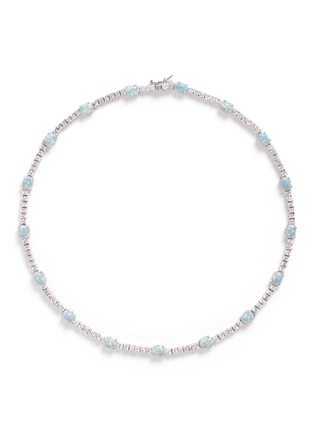 Main View - Click To Enlarge - CZ by Kenneth Jay Lane - Opalescent cubic zirconia oval cabochon necklace