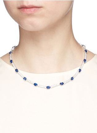 Figure View - Click To Enlarge - CZ by Kenneth Jay Lane - Oval cut cubic zirconia necklace