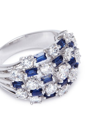 Detail View - Click To Enlarge - CZ by Kenneth Jay Lane - Mix cut checkered cubic zirconia ring