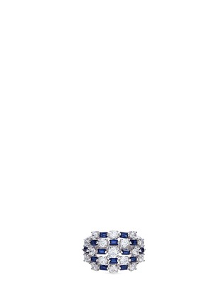 Main View - Click To Enlarge - CZ by Kenneth Jay Lane - Mix cut checkered cubic zirconia ring