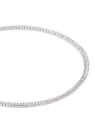 Detail View - Click To Enlarge - CZ by Kenneth Jay Lane - Baguette cut cubic zirconia choker necklace
